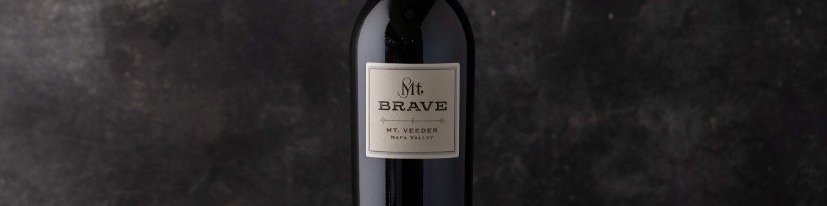 Single bottle of 2018 Mt. Brave Cabernet Sauvignon