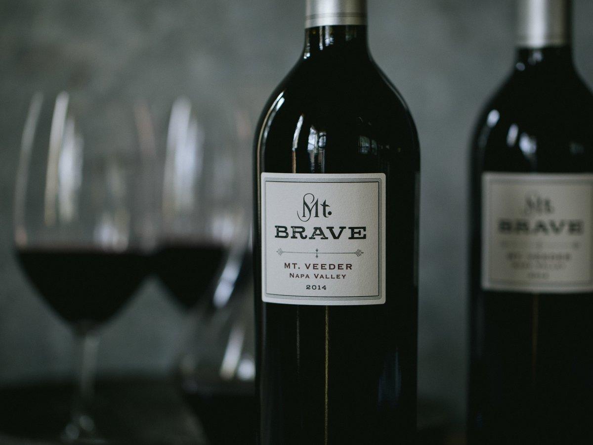 Mt. Brave wine bottles